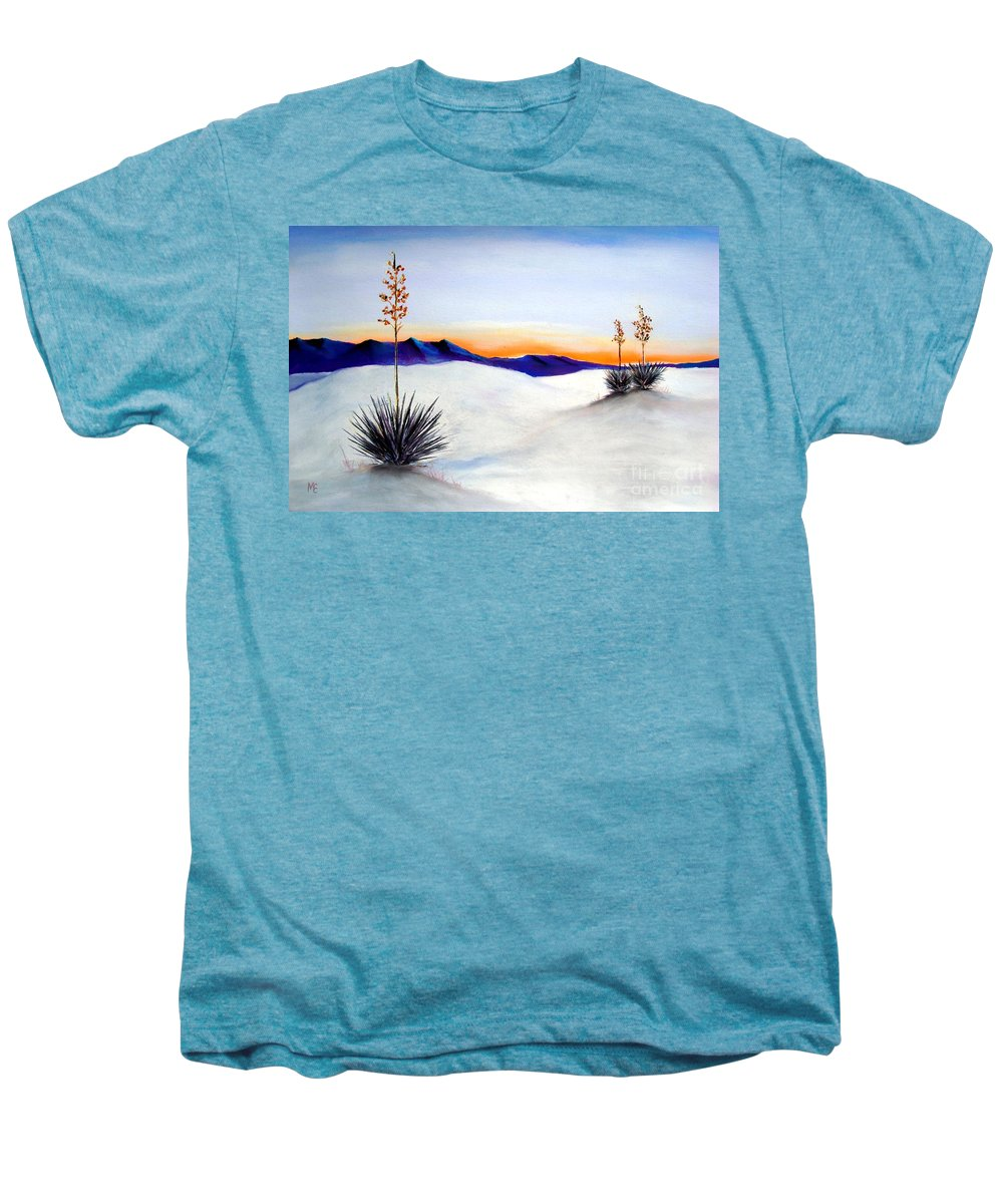 White Sands Men's Premium T-Shirt featuring the painting White Sands by Melinda Etzold