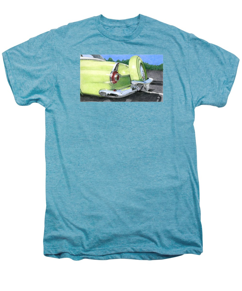 Classic Men's Premium T-Shirt featuring the drawing 1956 Ford Thunderbird by Rob De Vries