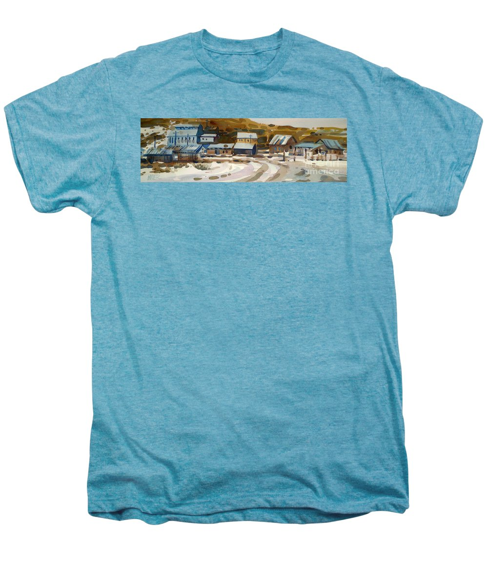 Ghost Town Men's Premium T-Shirt featuring the painting Bodie California 1979 by Donald Maier