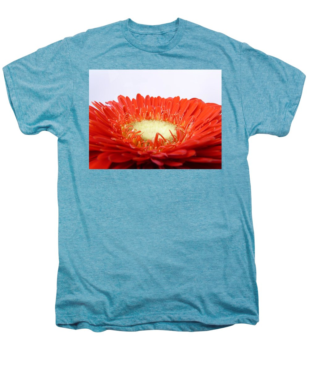 Gerbera Men's Premium T-Shirt featuring the photograph Gerbera by Daniel Csoka