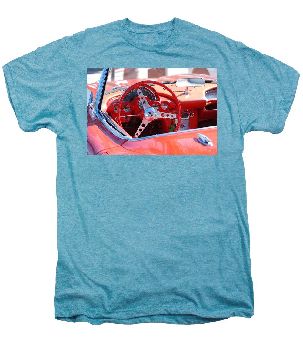 Corvette Men's Premium T-Shirt featuring the photograph Little Red Corvette by Rob Hans