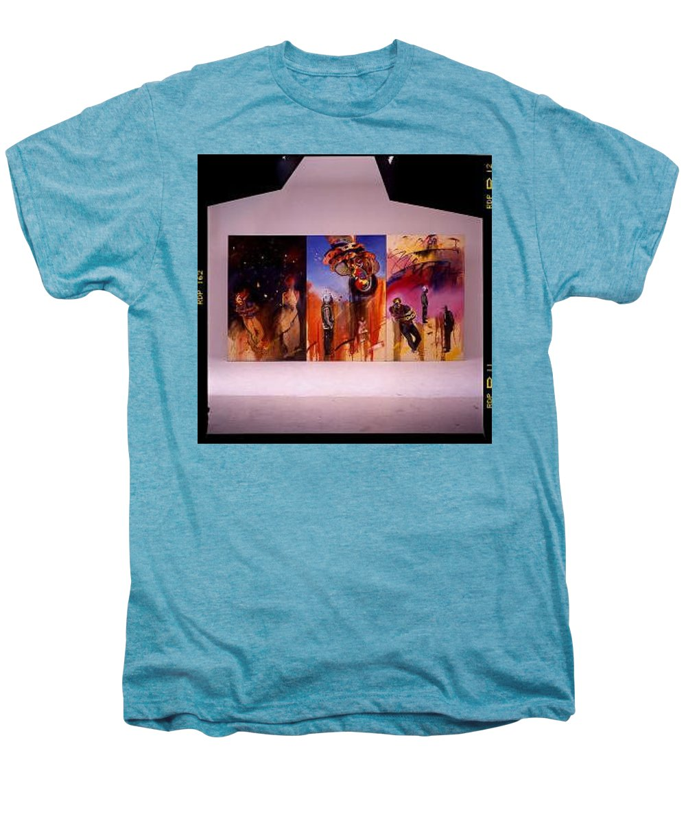 Canvas Men's Premium T-Shirt featuring the painting Love Hurts by Charles Stuart