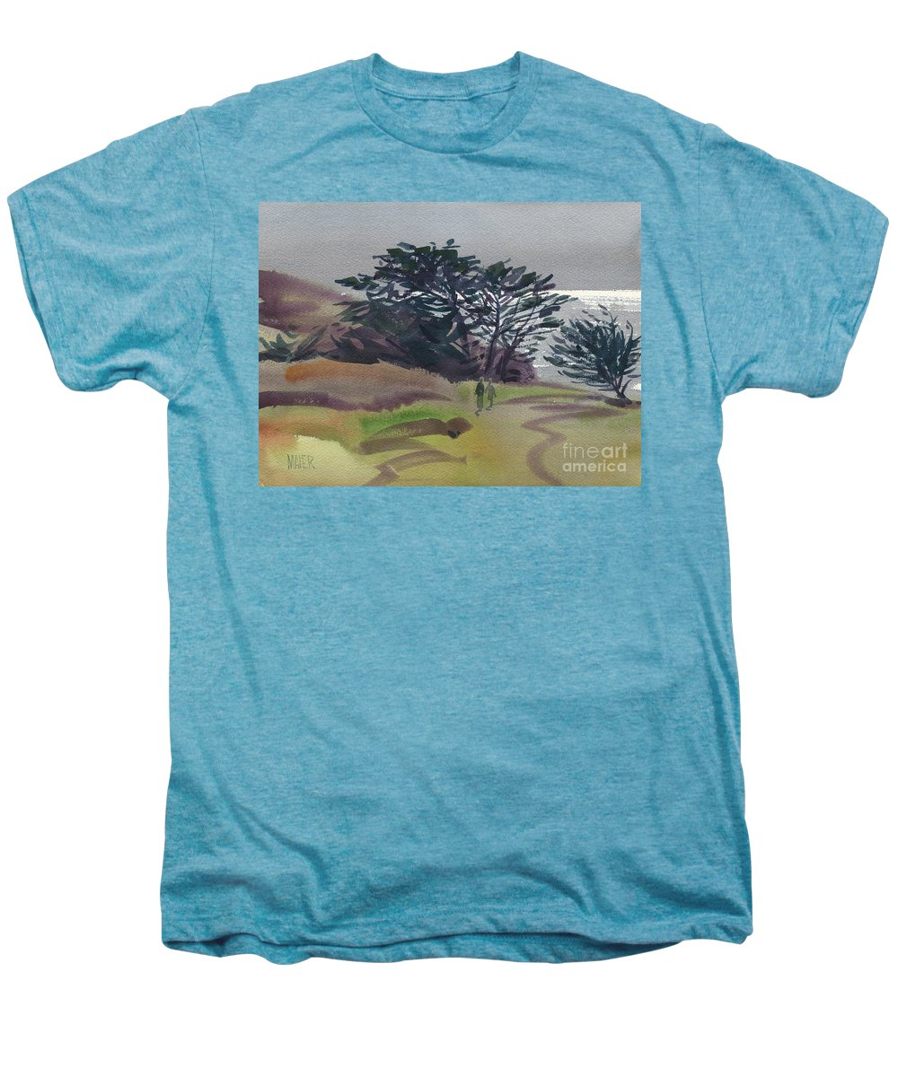 Plein Air Men's Premium T-Shirt featuring the painting Miramonte Point 1 by Donald Maier