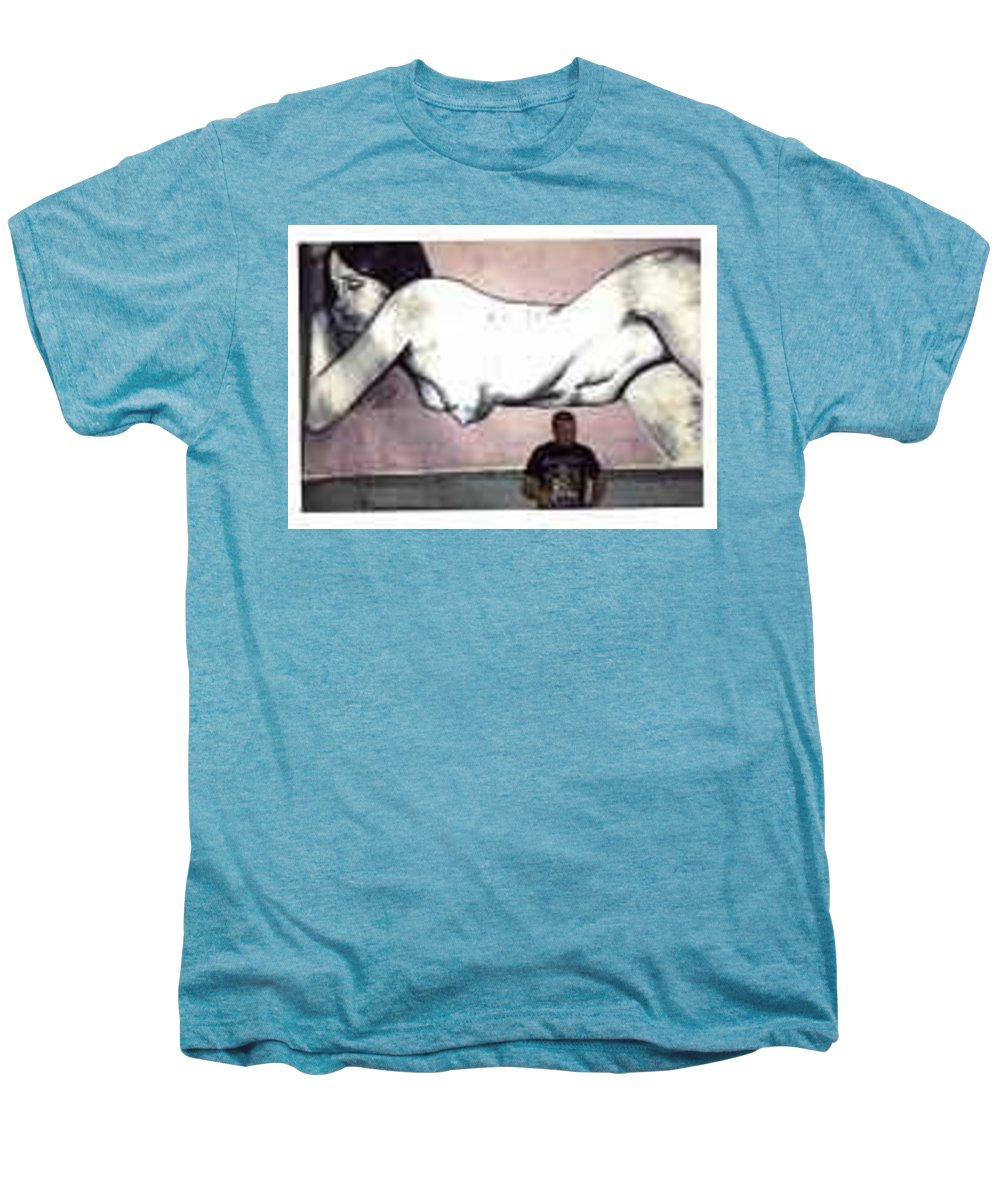 Nude Men's Premium T-Shirt featuring the painting Missy by Thomas Valentine