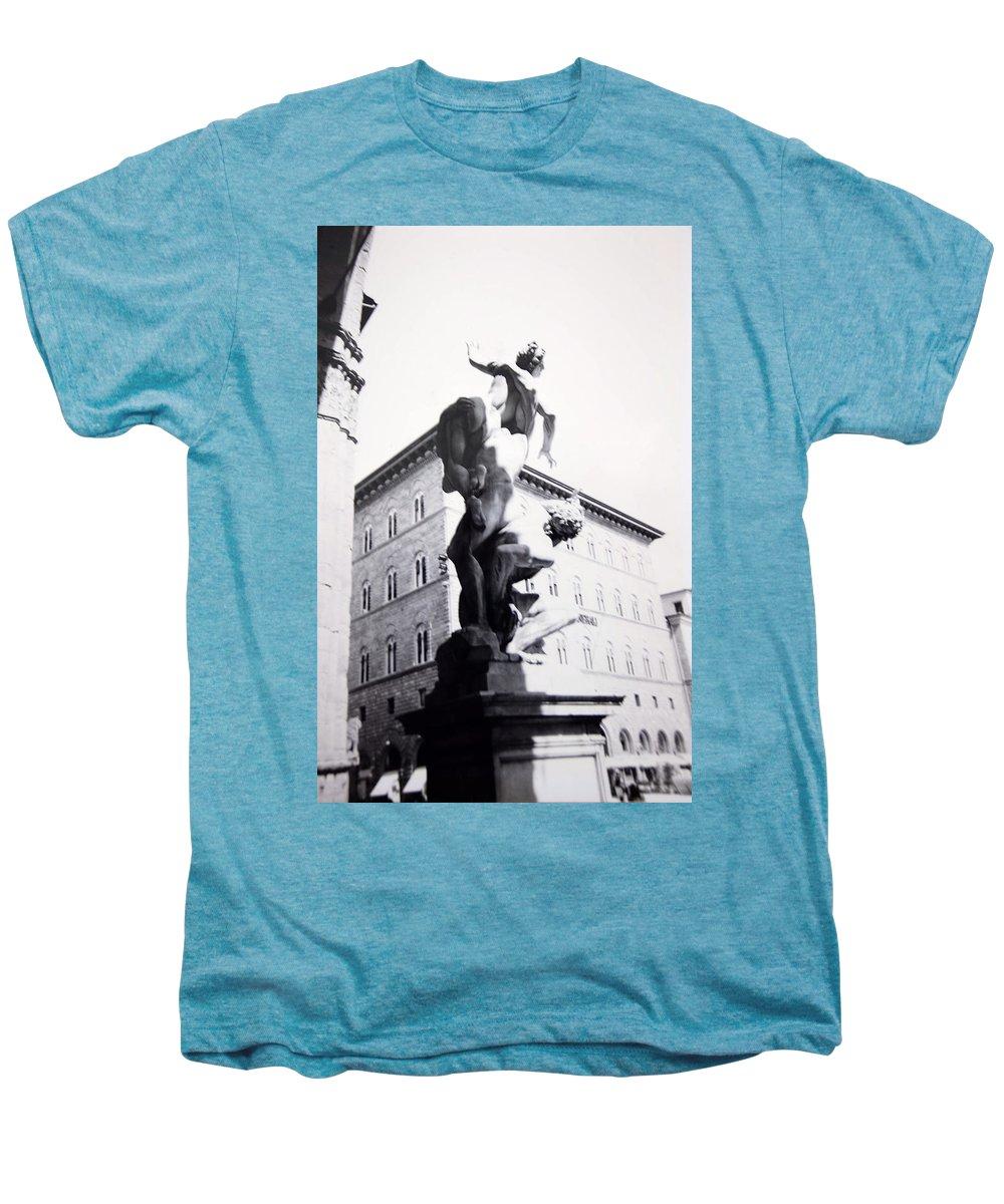 Florence Men's Premium T-Shirt featuring the photograph Palazzo Vecchio by Kurt Hausmann