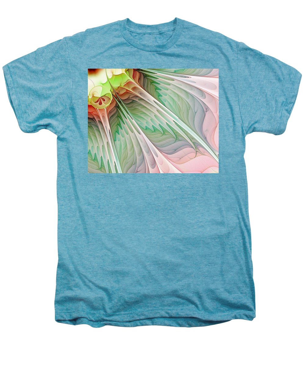 Digital Art Men's Premium T-Shirt featuring the digital art Petals by Amanda Moore