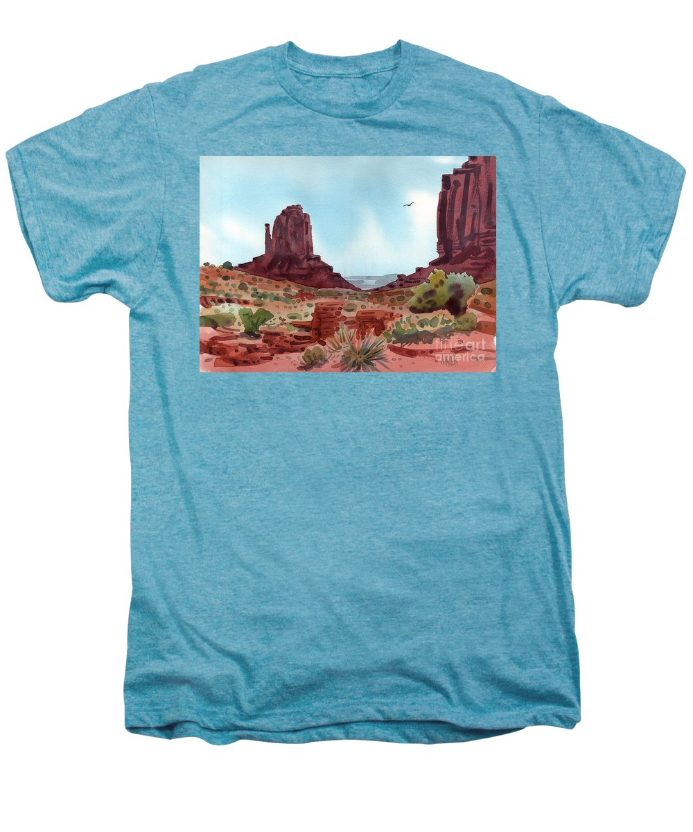 Right Mitten Men's Premium T-Shirt featuring the painting Right Mitten by Donald Maier