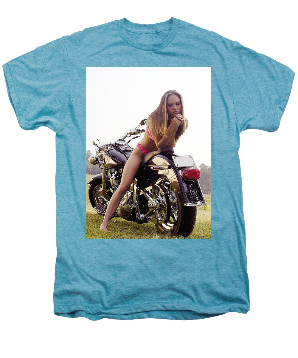 Men's Premium T-Shirt featuring the photograph Bikes And Babes by Clayton Bruster