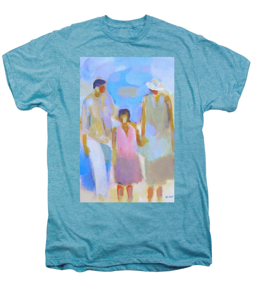 Abstract Men's Premium T-Shirt featuring the painting 3 With Love by Habib Ayat