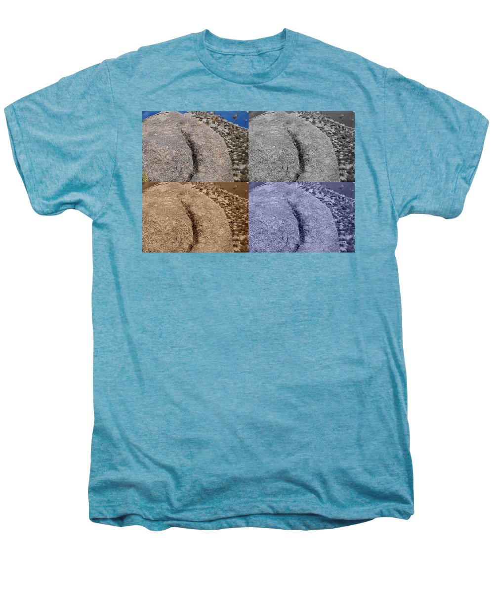 Sepia Men's Premium T-Shirt featuring the photograph 4 Crack Rocks New Mexico by Rob Hans