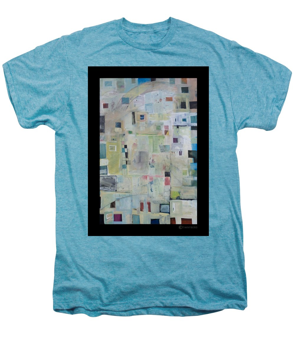 Abstract Men's Premium T-Shirt featuring the painting 7am In The City That Doesn by Tim Nyberg
