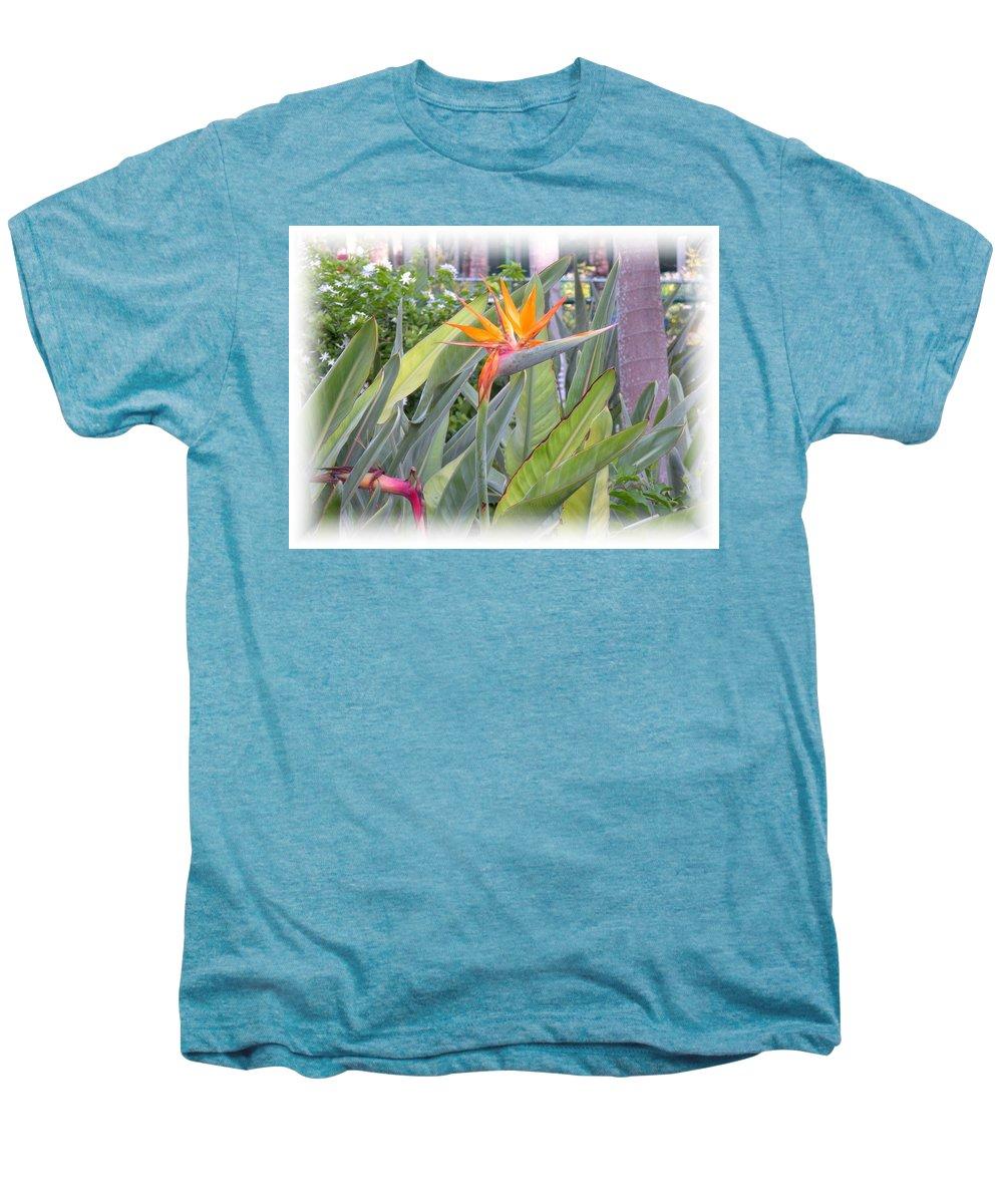 Plant Men's Premium T-Shirt featuring the photograph A Bird In Paradise by Maria Bonnier-Perez