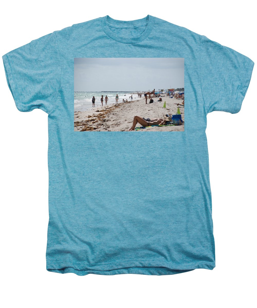 Nude Men's Premium T-Shirt featuring the photograph A Day At Paradise Beach by Rob Hans