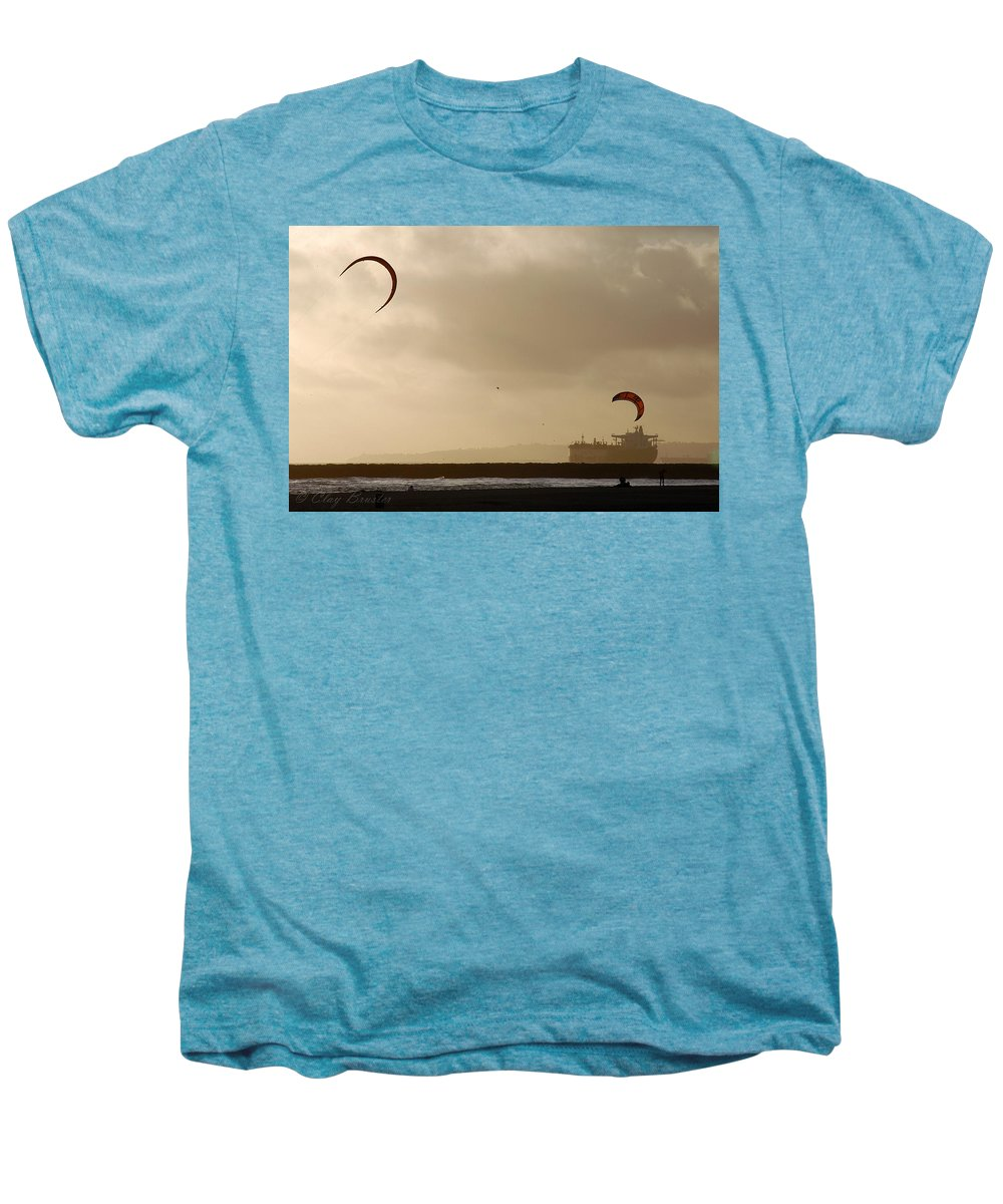 Clay Men's Premium T-Shirt featuring the photograph A Day At The Beach by Clayton Bruster