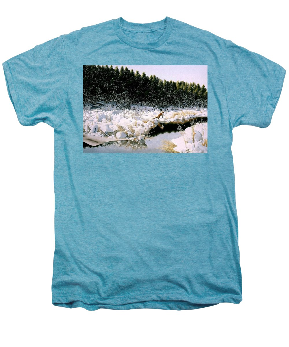 Landscape Men's Premium T-Shirt featuring the painting A Day I Remember by Conrad Mieschke