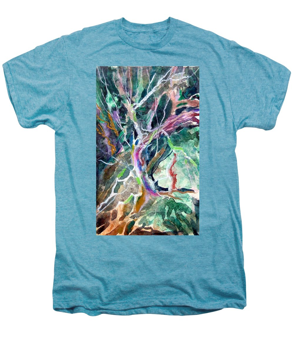 Tree Men's Premium T-Shirt featuring the painting A Dying Tree by Mindy Newman