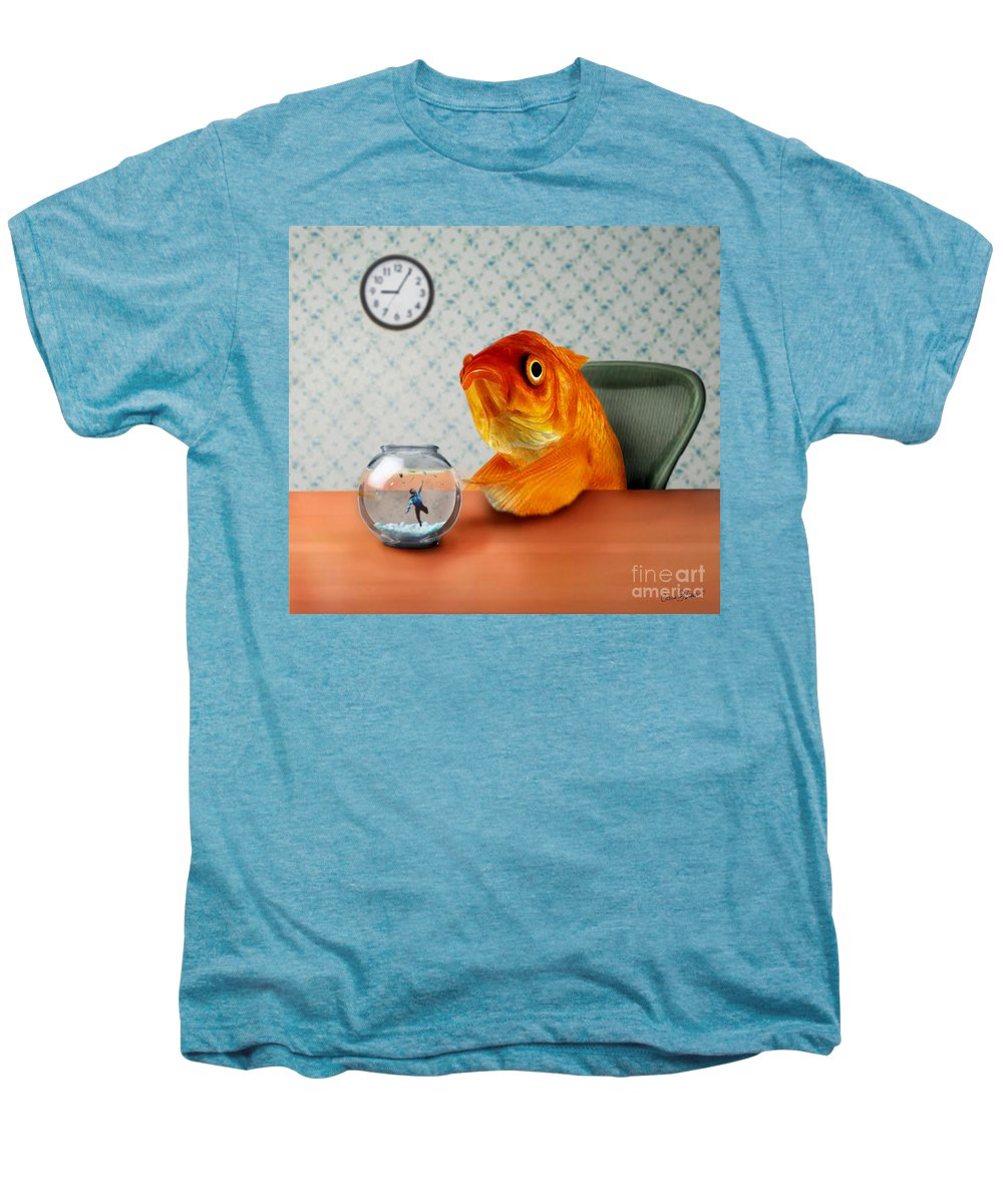 A Fish Out Of Water Men's Premium T-Shirt featuring the mixed media A Fish Out Of Water by Carrie Jackson