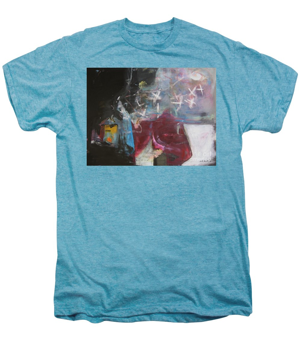 Abstract Paintings Men's Premium T-Shirt featuring the painting A Short Story by Seon-Jeong Kim
