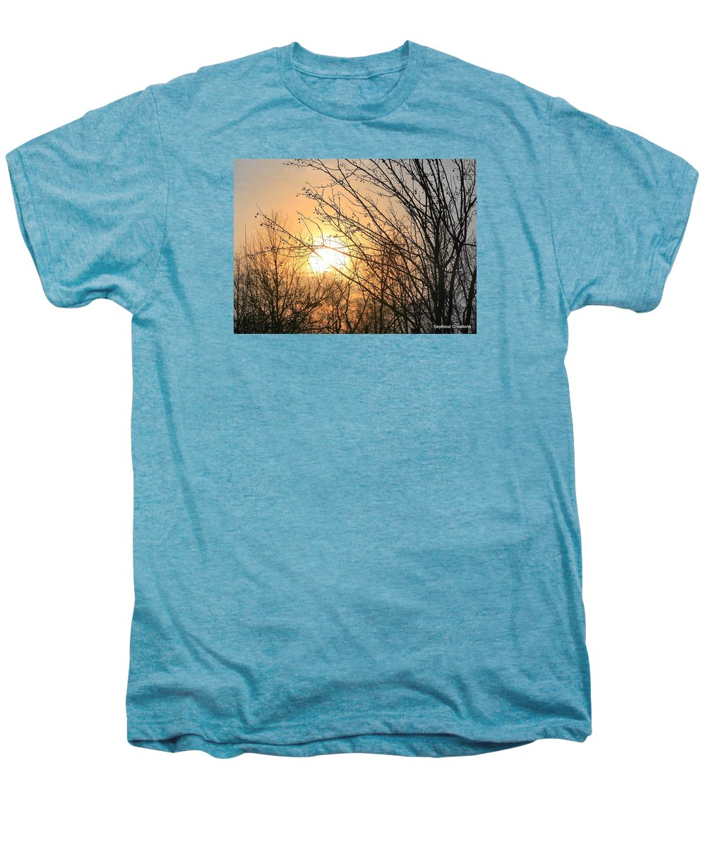 Sun Men's Premium T-Shirt featuring the photograph A Winter's Day After Glow by J R Seymour