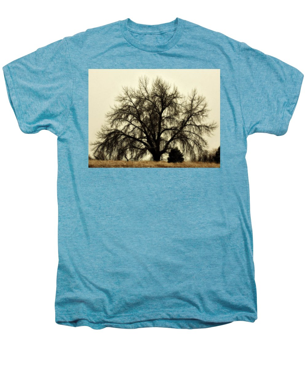 Tree Men's Premium T-Shirt featuring the photograph A Winter's Day by Marilyn Hunt
