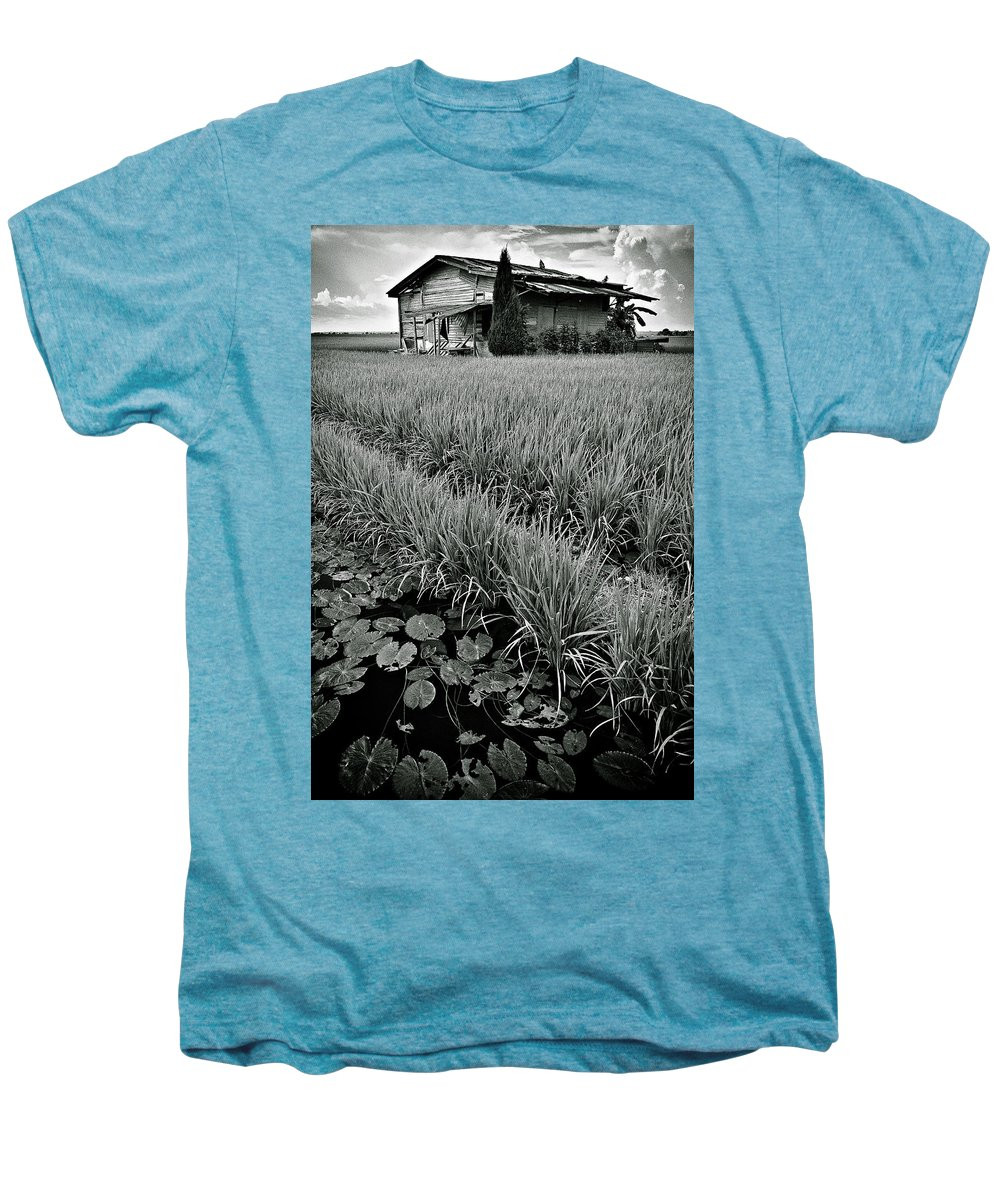 House Men's Premium T-Shirt featuring the photograph Abandoned House by Dave Bowman