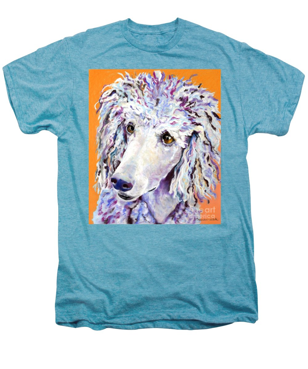 Standard Poodle Men's Premium T-Shirt featuring the pastel Above The Standard  by Pat Saunders-White