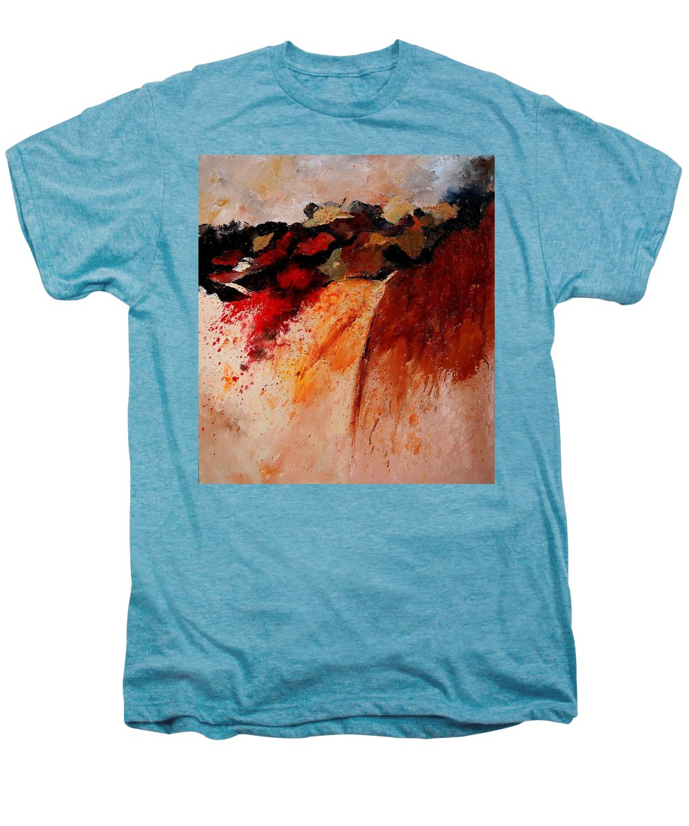 Abstract Men's Premium T-Shirt featuring the painting Abstract 010607 by Pol Ledent