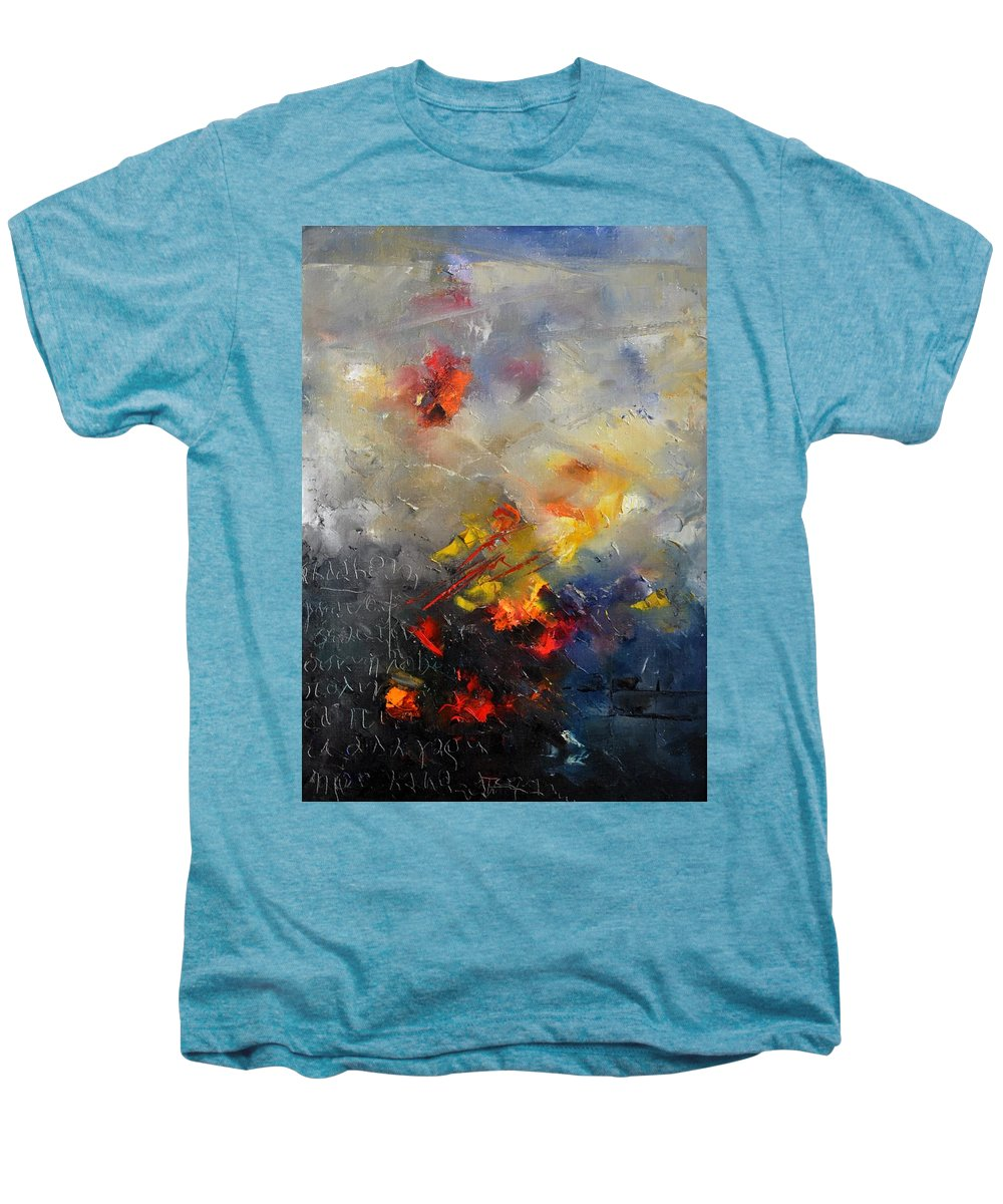 Abstract Men's Premium T-Shirt featuring the painting Abstract 0805 by Pol Ledent