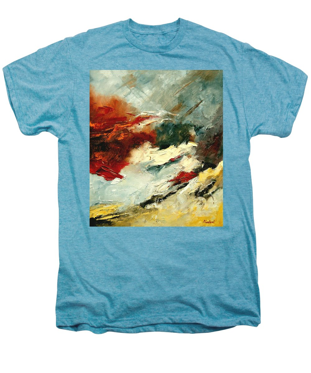 Abstract Men's Premium T-Shirt featuring the painting Abstract 9 by Pol Ledent
