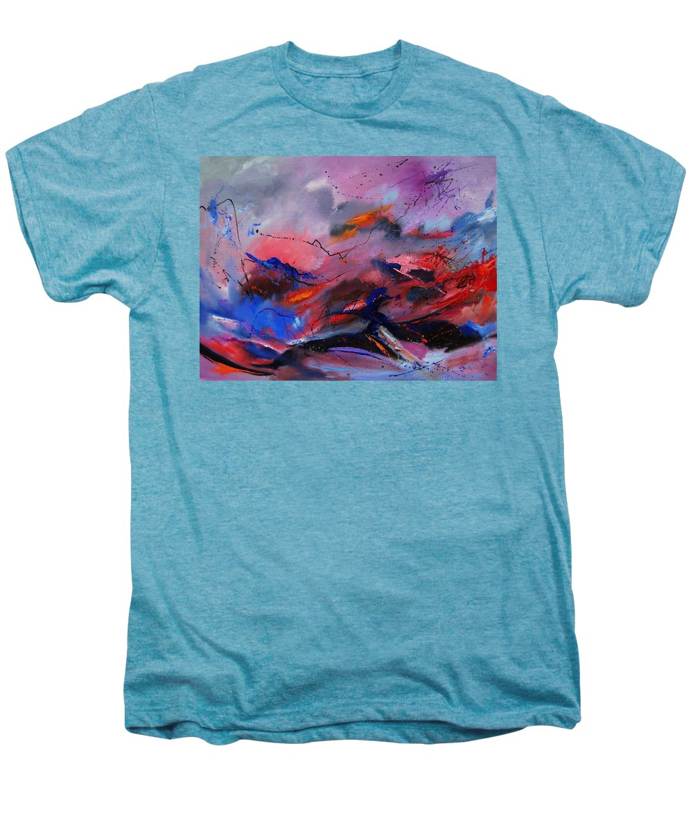 Abstract Men's Premium T-Shirt featuring the painting Abstract 971260 by Pol Ledent