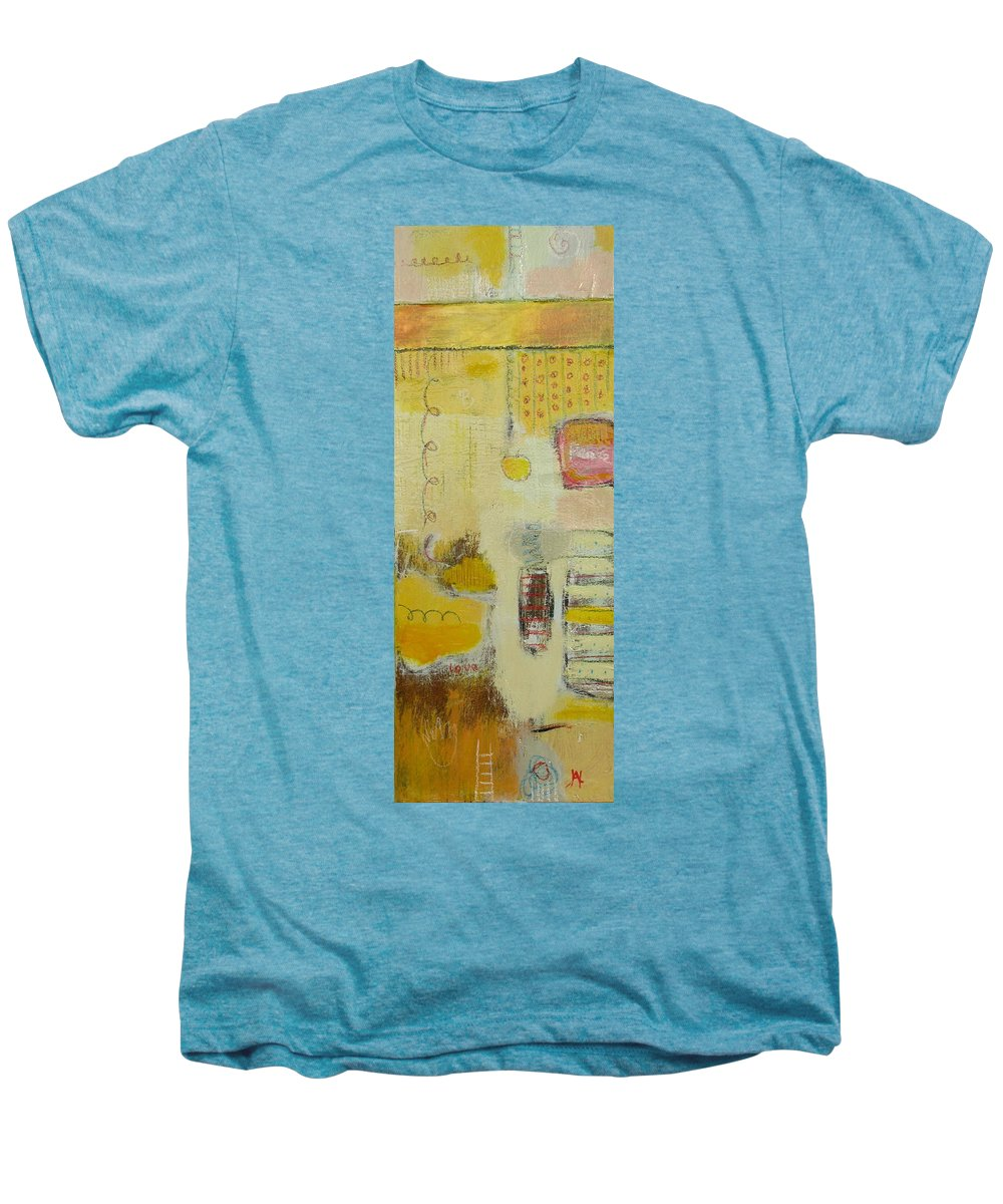 Abstract Men's Premium T-Shirt featuring the painting Abstract Life 1 by Habib Ayat