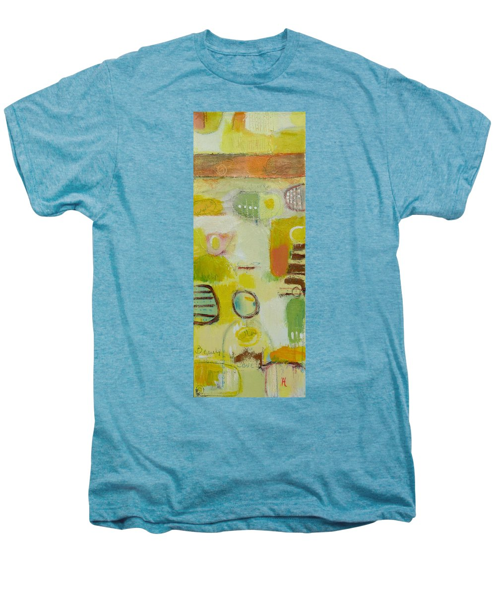 Men's Premium T-Shirt featuring the painting Abstract Life 2 by Habib Ayat