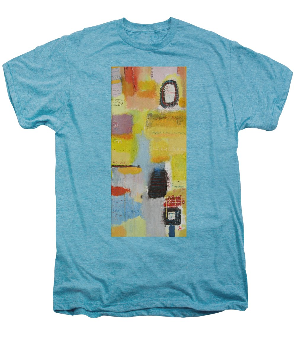 Abstract Men's Premium T-Shirt featuring the painting Abstract Life 3 by Habib Ayat