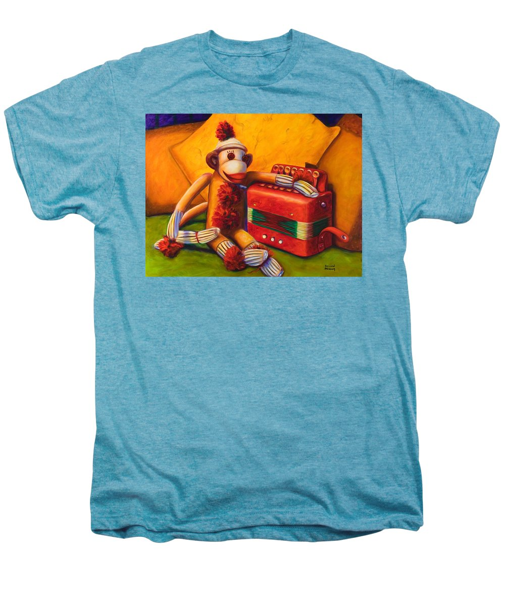 Children Men's Premium T-Shirt featuring the painting Accordion by Shannon Grissom