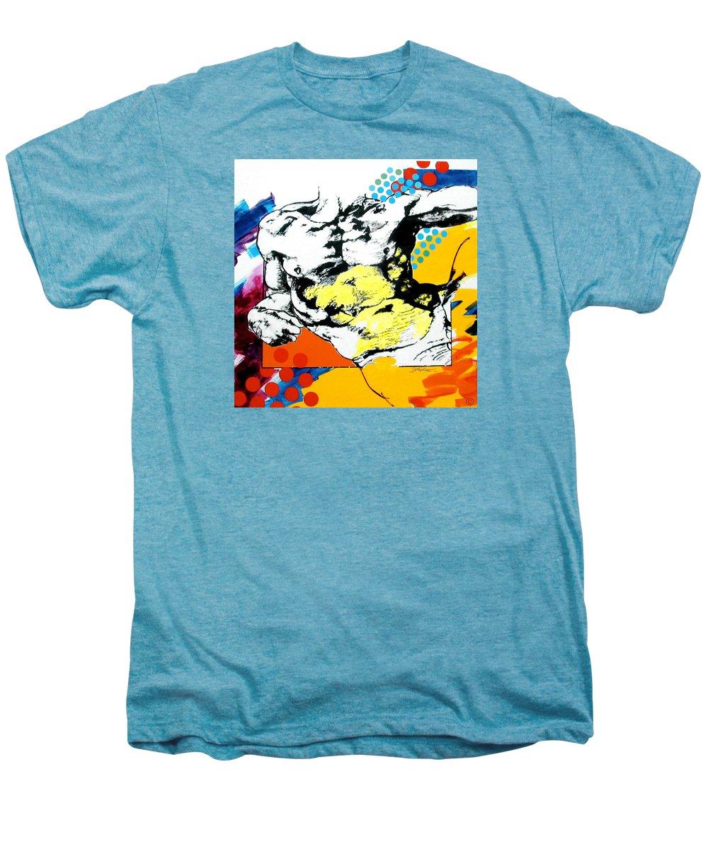 Pop Men's Premium T-Shirt featuring the painting Adam by Jean Pierre Rousselet