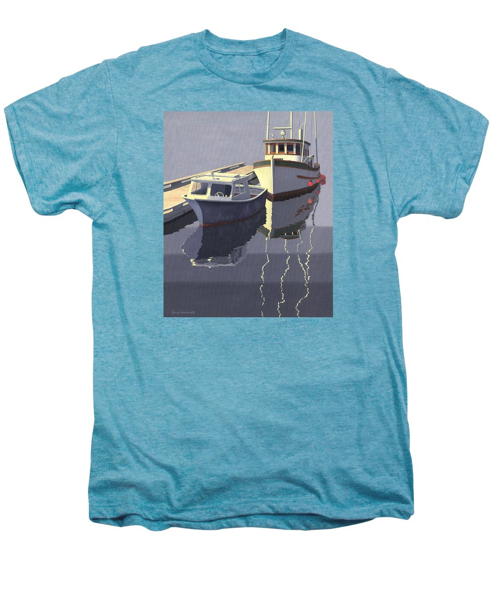 Boat Men's Premium T-Shirt featuring the painting After The Rain by Gary Giacomelli