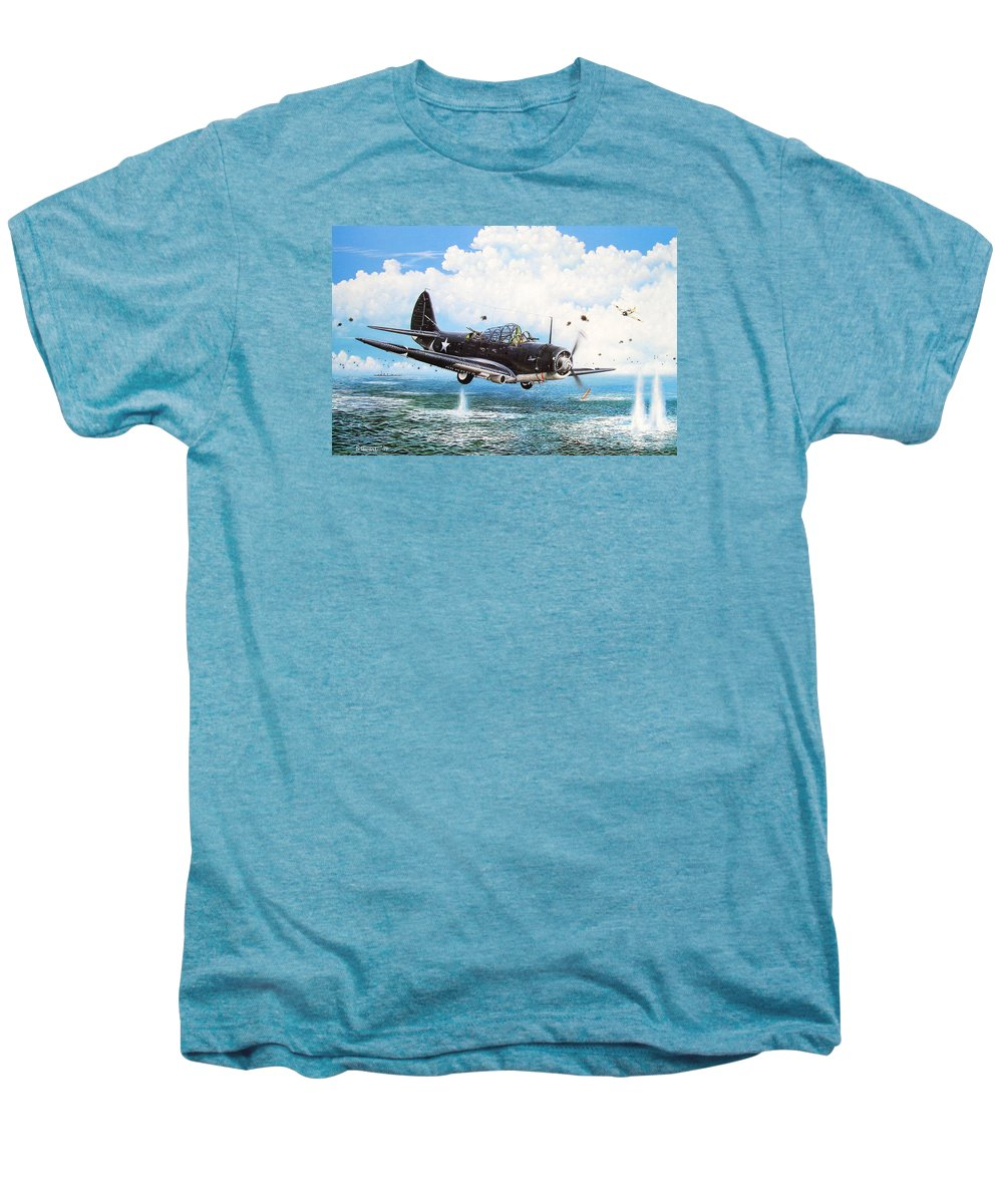 Military Men's Premium T-Shirt featuring the painting Against The Odds by Marc Stewart