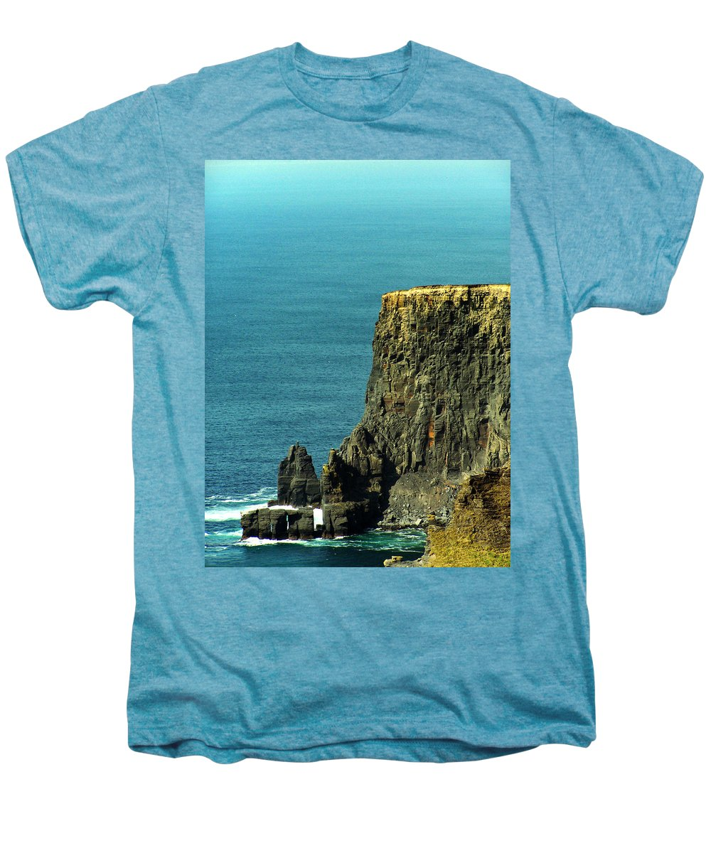Irish Men's Premium T-Shirt featuring the photograph Aill Na Searrach Cliffs Of Moher Ireland by Teresa Mucha