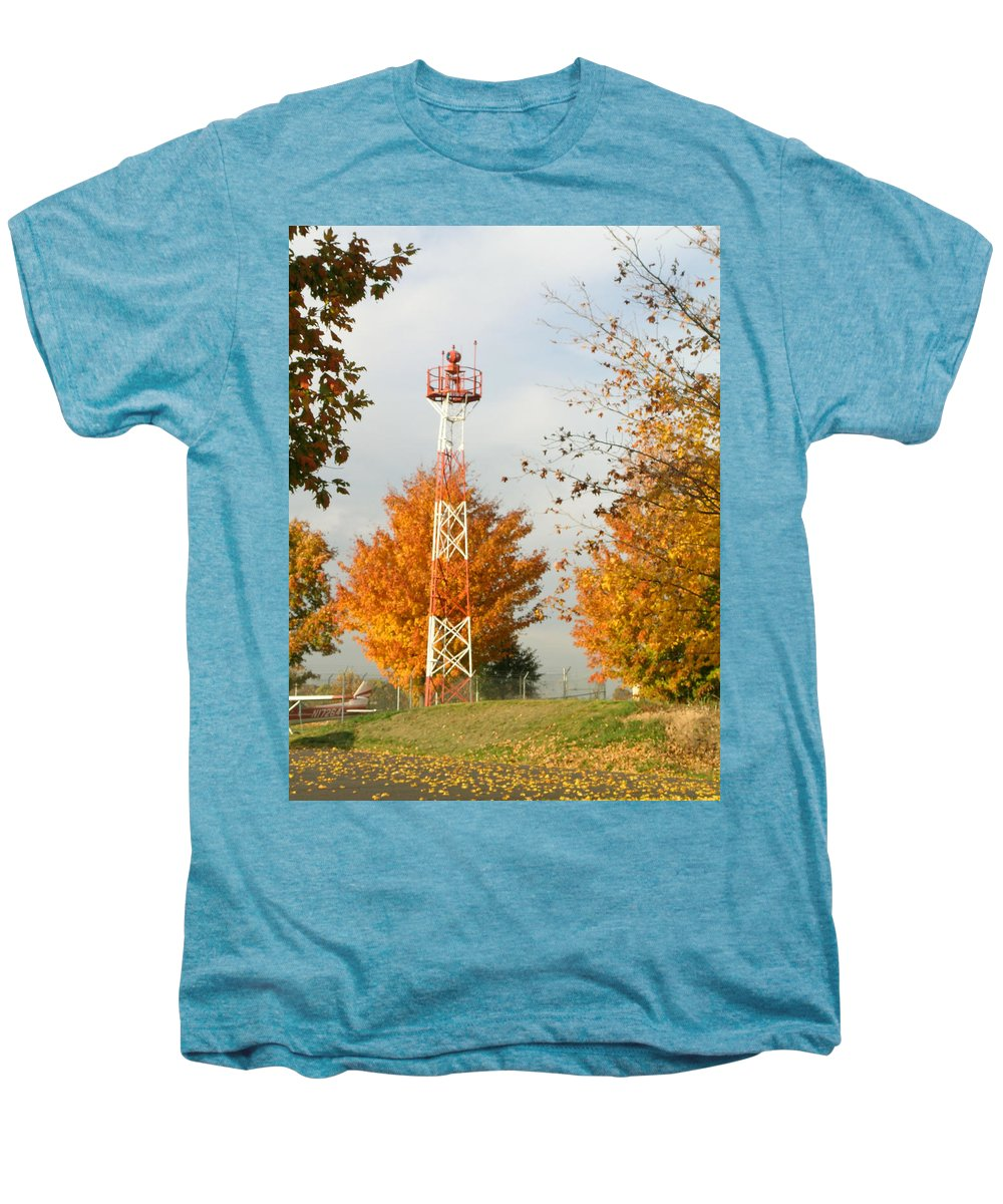 Airport Men's Premium T-Shirt featuring the photograph Airport Tower by Douglas Barnett