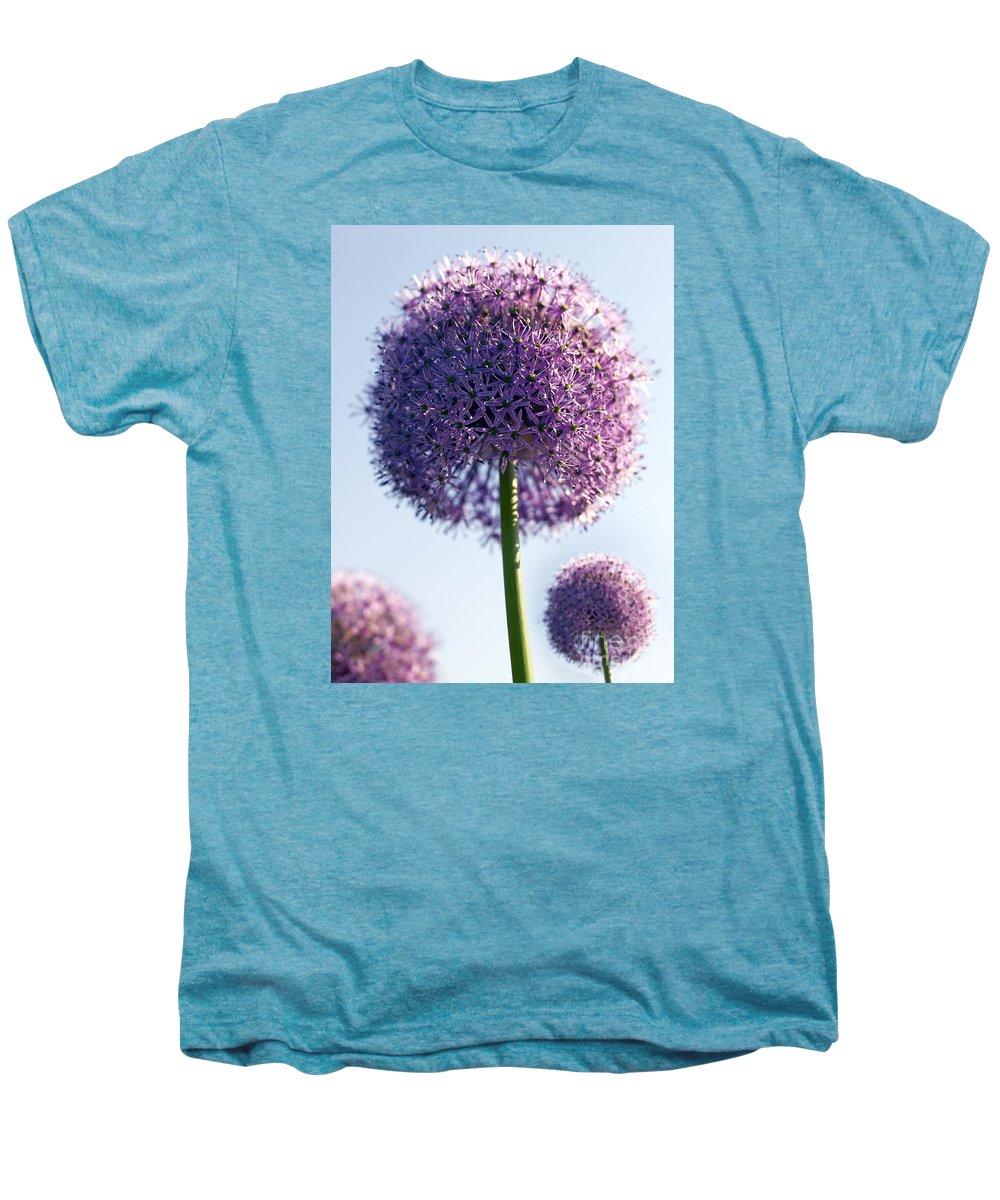 Allium Men's Premium T-Shirt featuring the photograph Allium Flower by Tony Cordoza