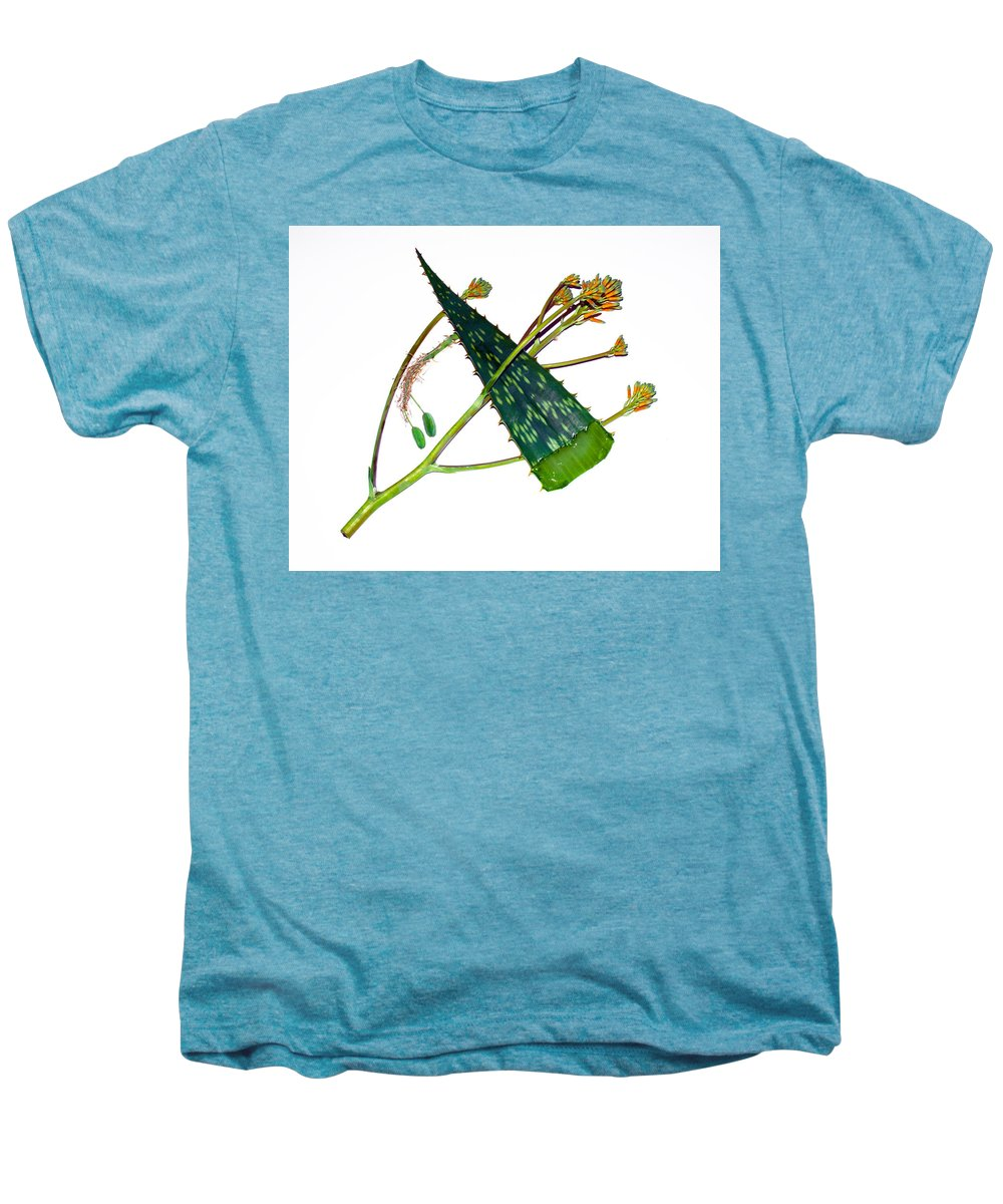 Aloe; Vera; Medicine; Properties; Medicinal; Ailments; Biblical; Ointment; Burns; Burn; Cuts; Rash; Men's Premium T-Shirt featuring the photograph Aloe Vera by Allan Hughes