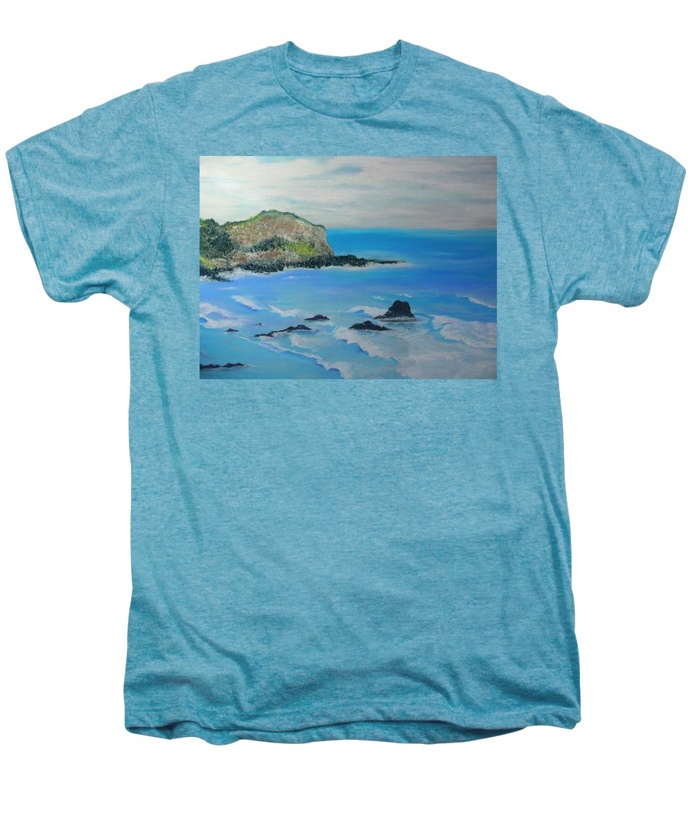 Hawaii Men's Premium T-Shirt featuring the painting Aloha by Melinda Etzold