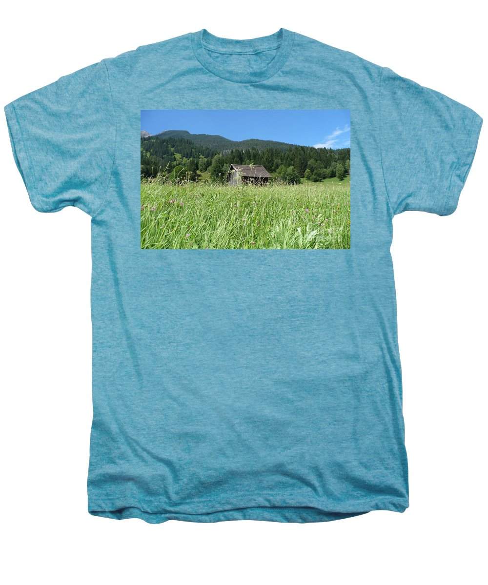 Alpine Men's Premium T-Shirt featuring the photograph Alpine Meadow by Carol Groenen