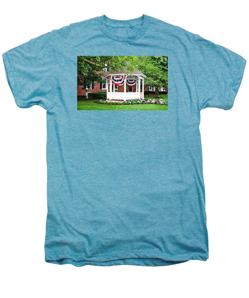 Gazebo Men's Premium T-Shirt featuring the photograph American Gazebo by Margie Wildblood