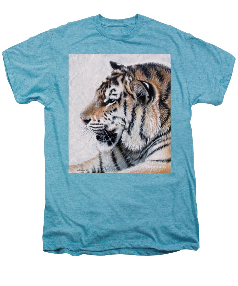 Acrylic Men's Premium T-Shirt featuring the painting Amur by Sandi Baker