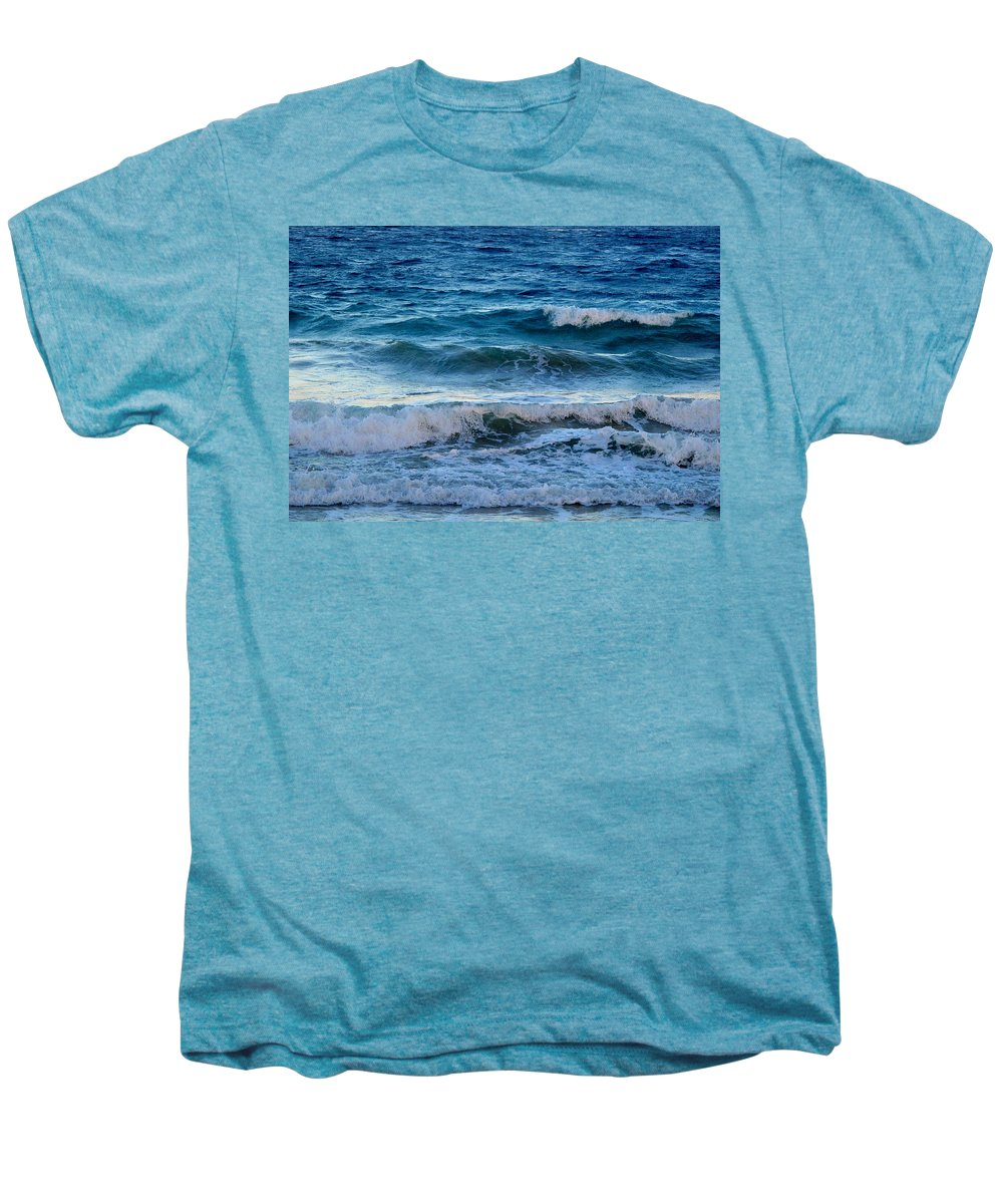 Sea Men's Premium T-Shirt featuring the photograph An Unforgiving Sea by Ian MacDonald