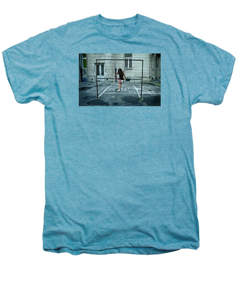 Children Men's Premium T-Shirt featuring the photograph Ana At The Barre by Michael Ziegler