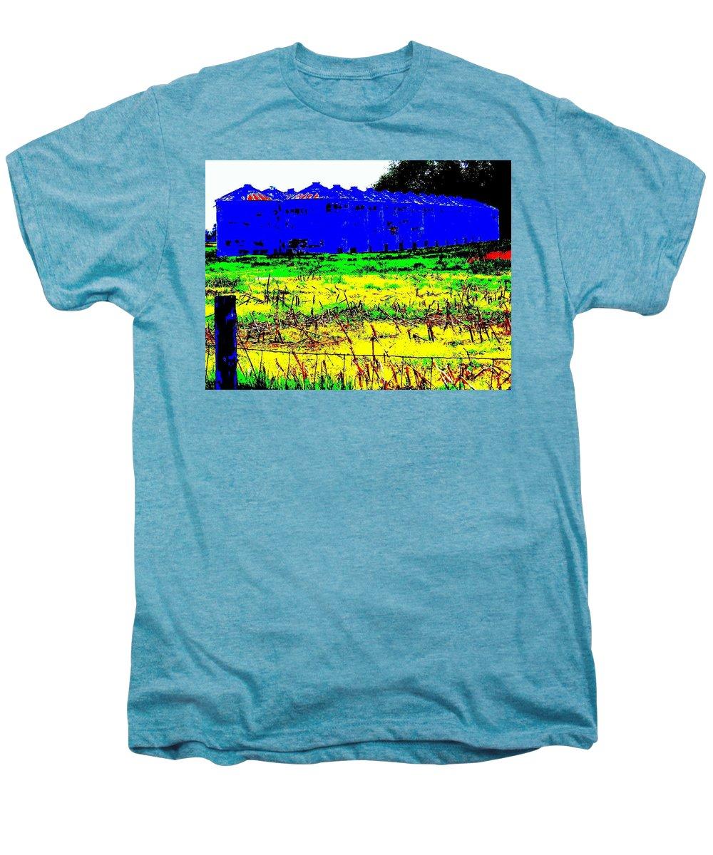 Landscape Men's Premium T-Shirt featuring the photograph Andys Farm by Ed Smith
