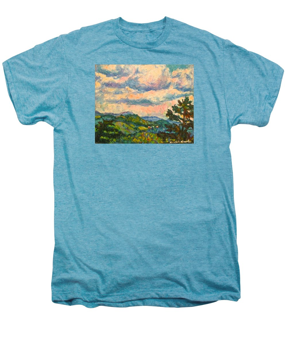 Landscape Paintings Men's Premium T-Shirt featuring the painting Another Rocky Knob by Kendall Kessler