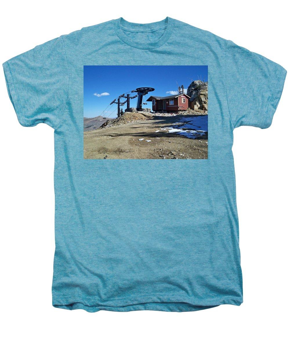 Landscape Men's Premium T-Shirt featuring the photograph Anticipation by Michael Cuozzo